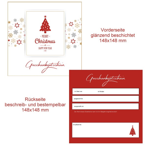 25 Gutscheinkarten - Geschenkgutscheine Weihnachten 101