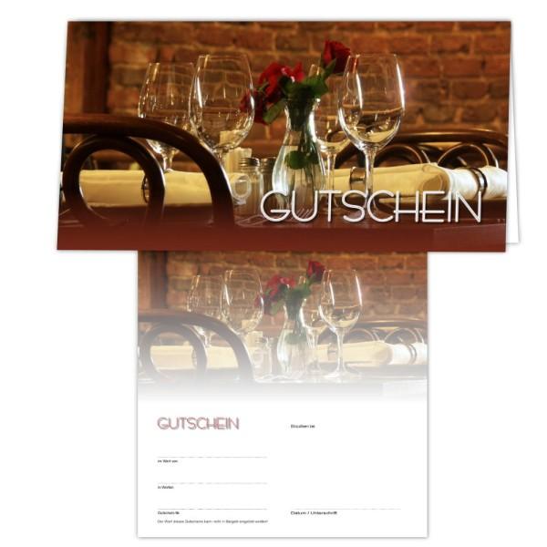25 Gutschein-Klappkarten - Geschenkgutscheine - Restaurant1
