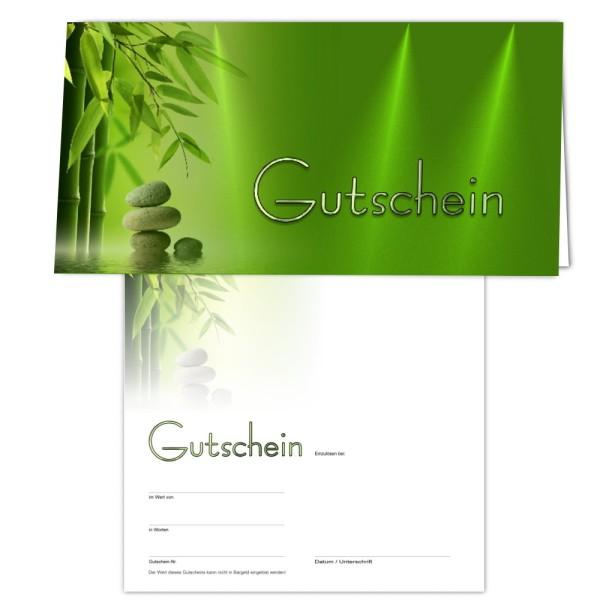 25 Gutschein-Klappkarten - Geschenkgutscheine -Wellness4