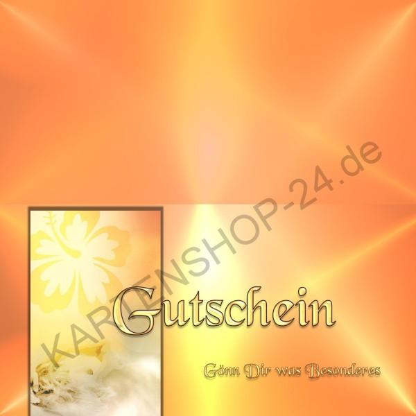 25 Gutschein-Klappkarten - Geschenkgutscheine - Flower 2