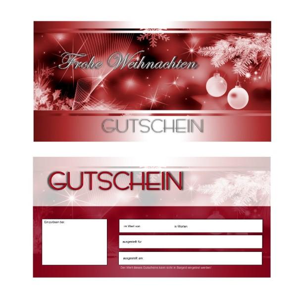 25 Gutscheinkarten - Geschenkgutscheine Weihnachten 1