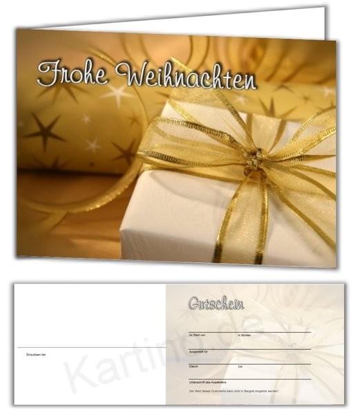 25 Gutschein-Klappkarten - Geschenkgutscheine - Weihnachten 10