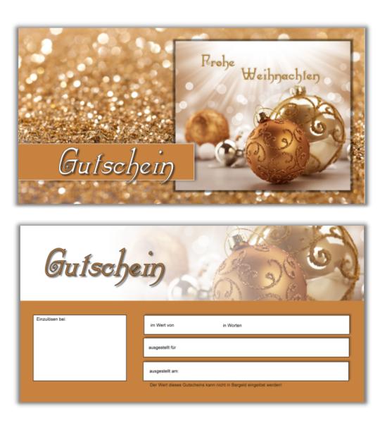 25 Gutscheinkarten - Geschenkgutscheine Weihnachten 21